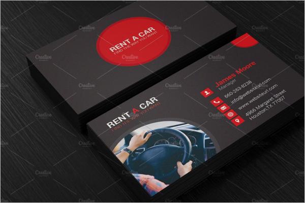 Editable Car Business Card Template