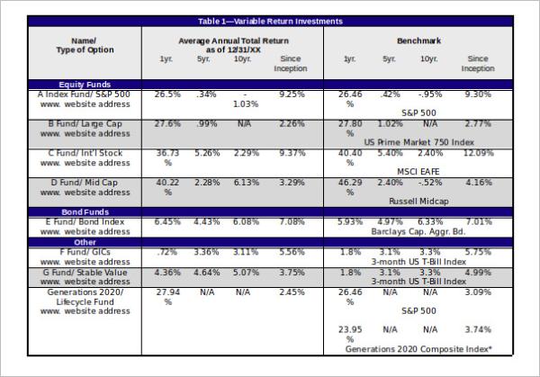Editable Comparison Chart Template