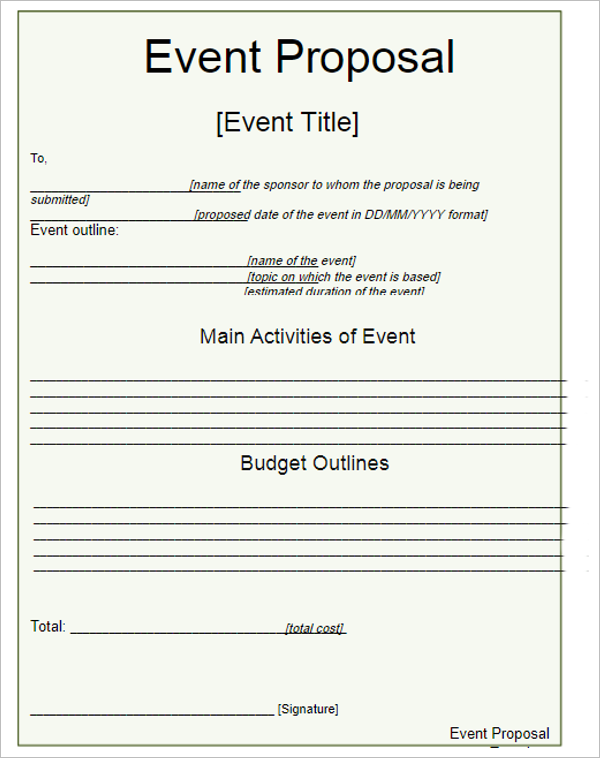 Editable Grant Proposal Template