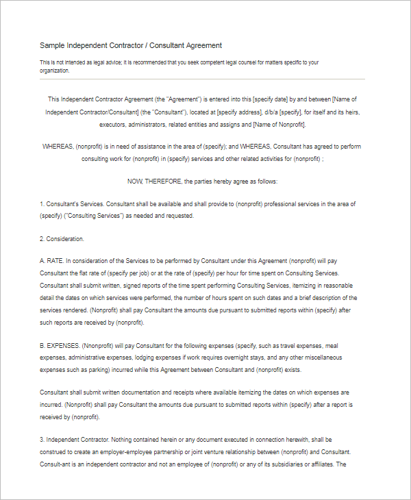15 free subcontractor agreement templates word pdf doc for Subcontractors agreement template