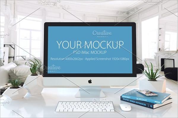 Editable iMac Mockup Design