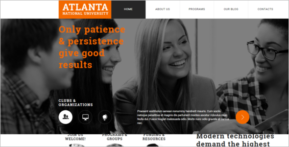 Education University Joomla Template
