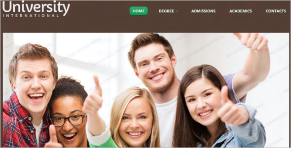 Educational Course Website Template