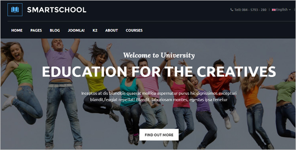 Educational Joomla Template