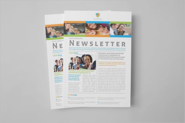 Educational Newsletter Brochure Design