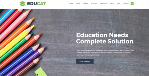 Educational Organization HTM5 Tempate