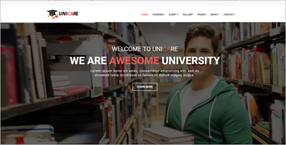 Educational center HTML5 Template