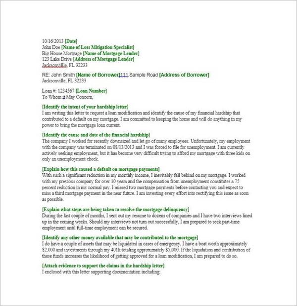 Effective Hardship Letter Template