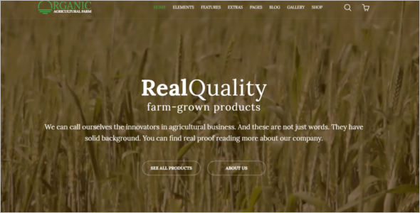 Elegant Agriculture HTML5 Template