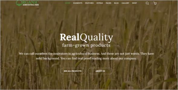 Elegant Agriculture HTML5 Template