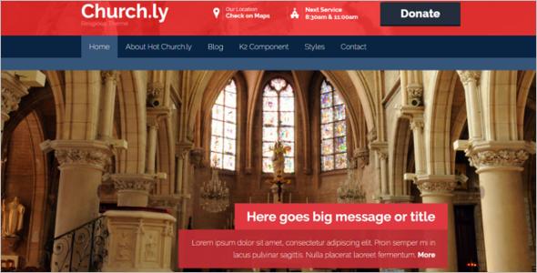 Elegant Church Joomla Template