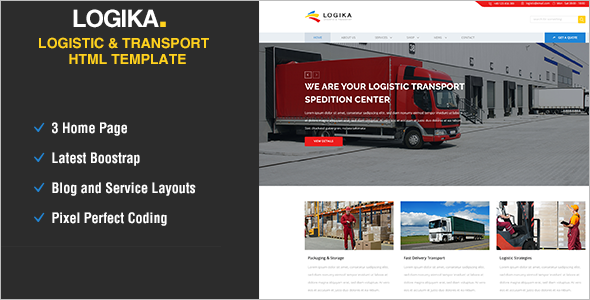 Elegant Logistics HTML5 Template