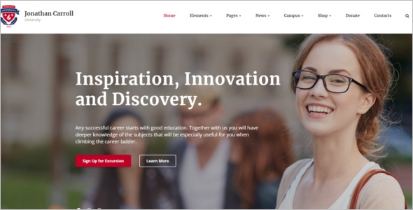Elegant University HTML5 Template