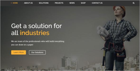 Engineering Website Template