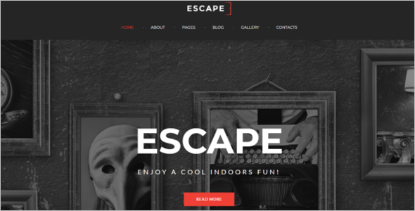 Escape Room Gamming Joomla Template