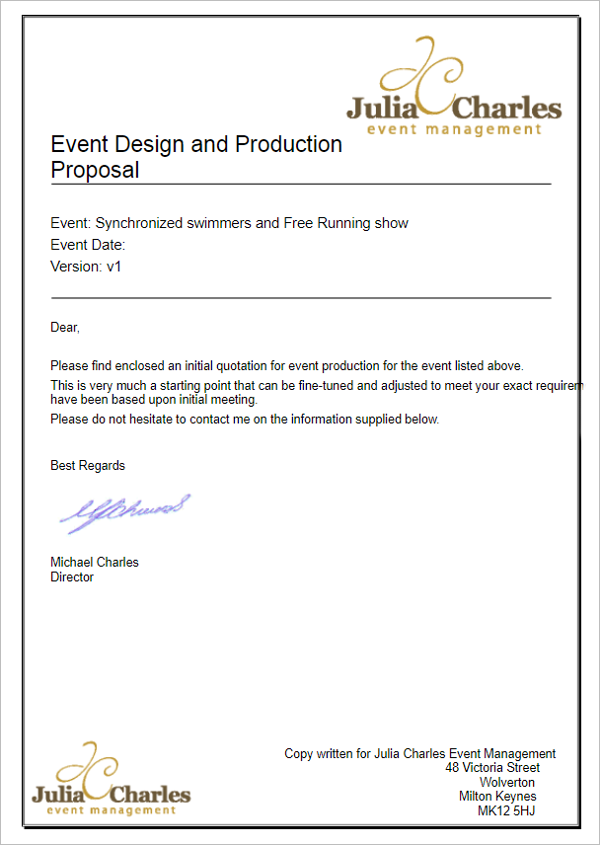Event Proposal Template Doc