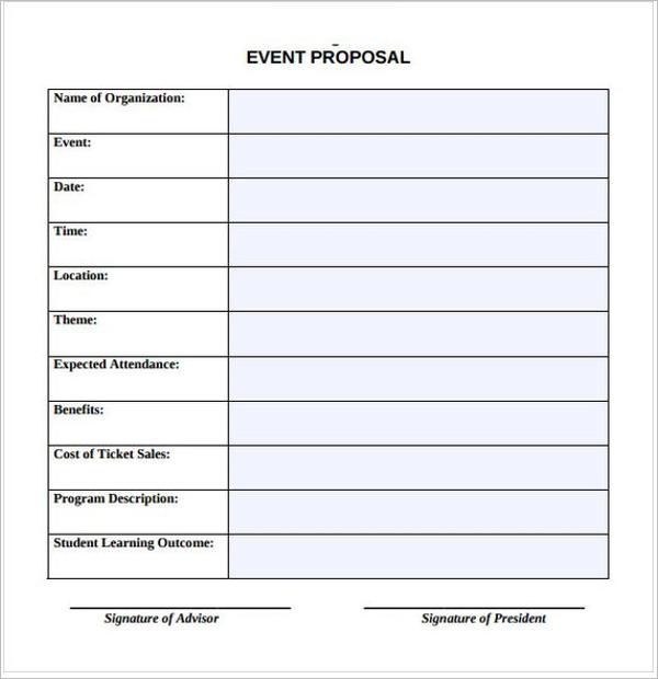 Event Service Proposal Template