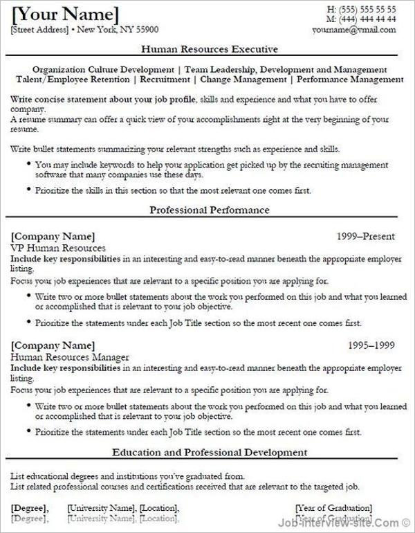 Executive Summary Sample PDF
