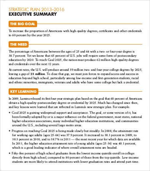 Executive Summary Template Doc
