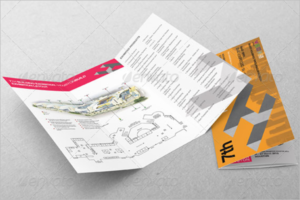 Exhibition Ticket Brochure Template