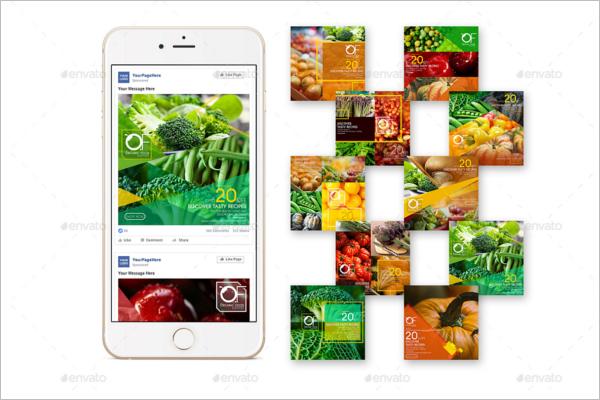 Facebook Ad Mockup Vector Design