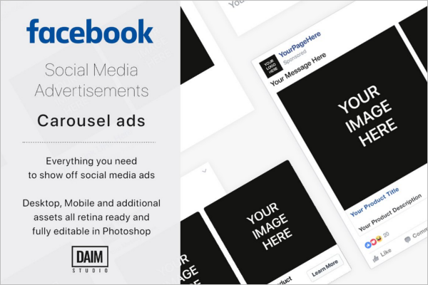 Facebook Advertising Mockup Design