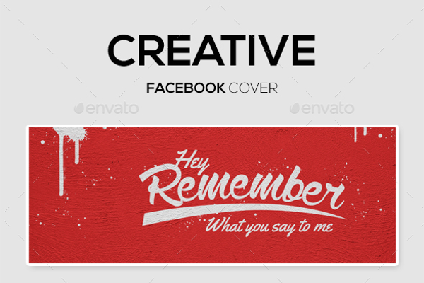 Facebook Cover Creative Wall Mock Up