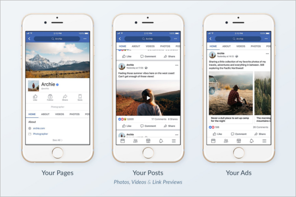 Facebook Mobile Ad Mockup Template