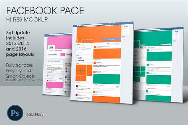 Facebook Mockup Indesign