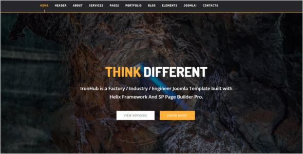 Factory HTML5 Joomla Template