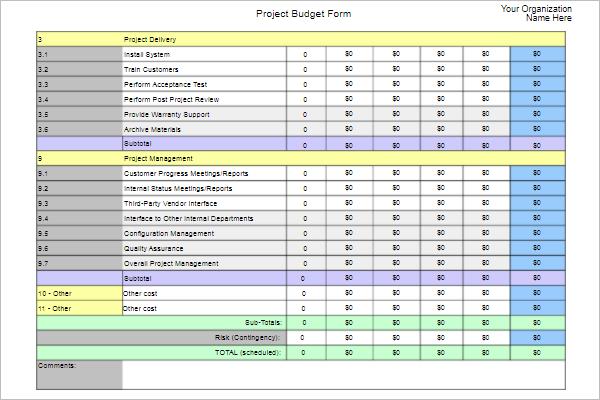 Family Budget Template PDF