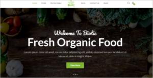 Farm Food Website Template