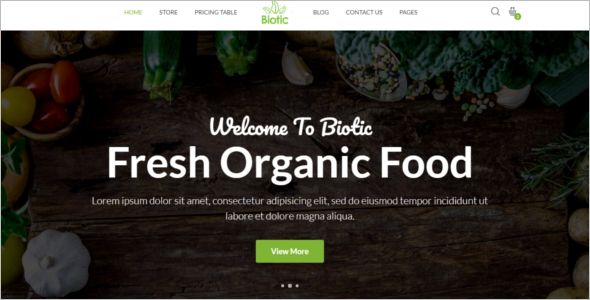 Farm Food Website Template