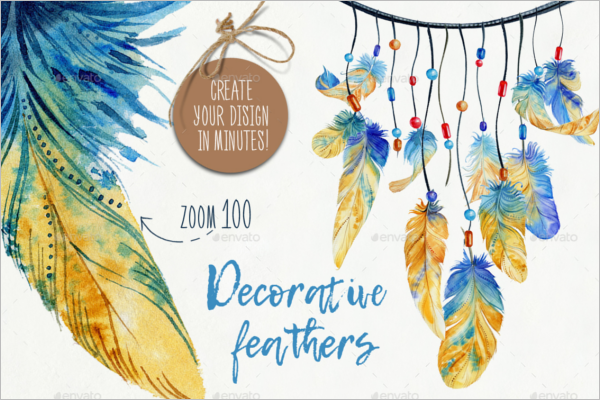 Feather Party Decoration Idea