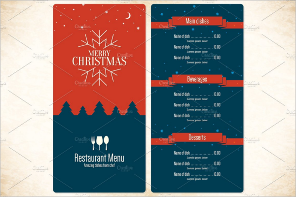 Festive Party Menu Design