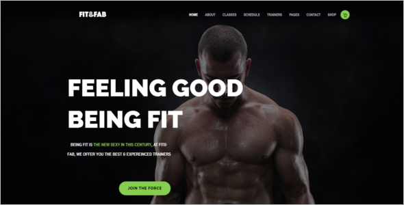 Fitness Bootstrap HTML5 Template