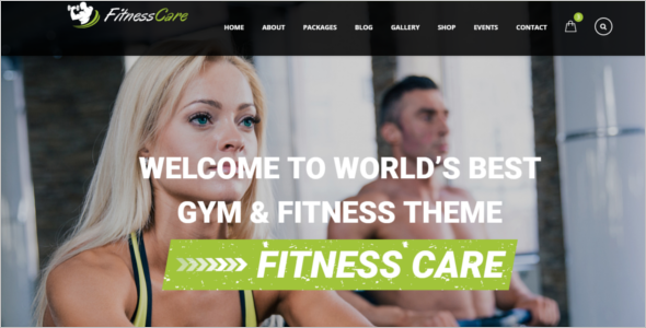 Fitness Care HTML5 Responsive Template