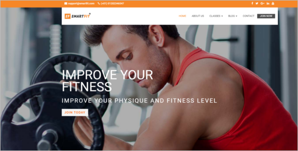 Fitness HTML5 Responsive Template