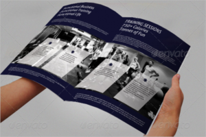 Fitness Training Brochure Template PDF