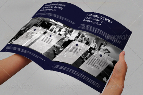 Fitness Training Brochure Template PDF