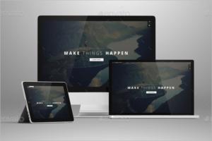 Flat iMac Mockup Template