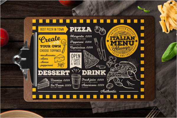 Food & Drink Menu Template