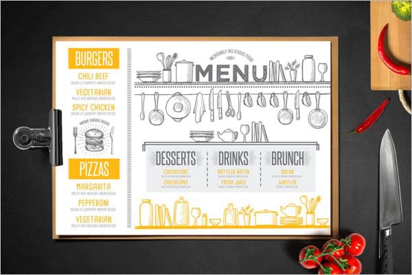 Food Menu Card Design PSD