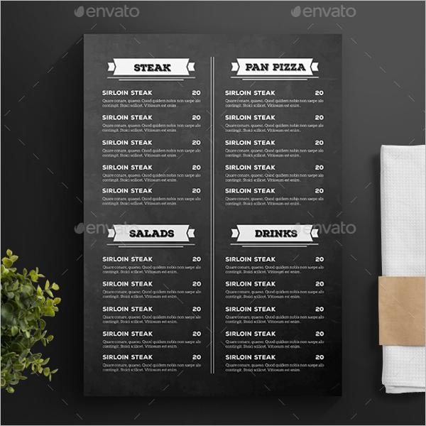 FoodMenu Card Template