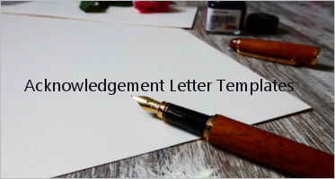 Free Acknowledgement Letter Templates