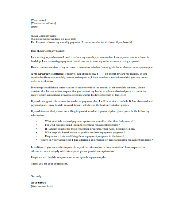 Reduction In Work Hours Letter To Employer