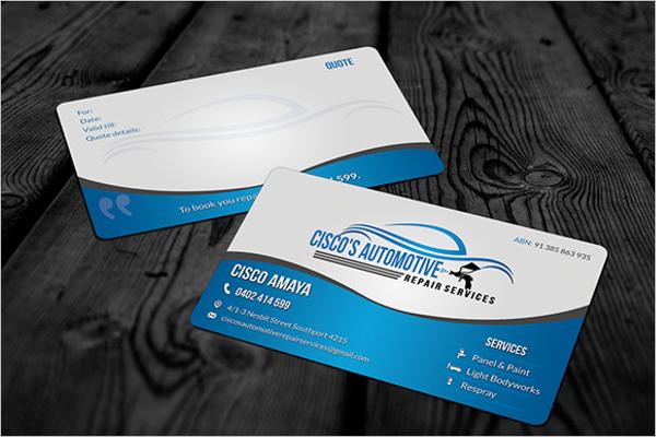 Free Automotive Business Card PSD