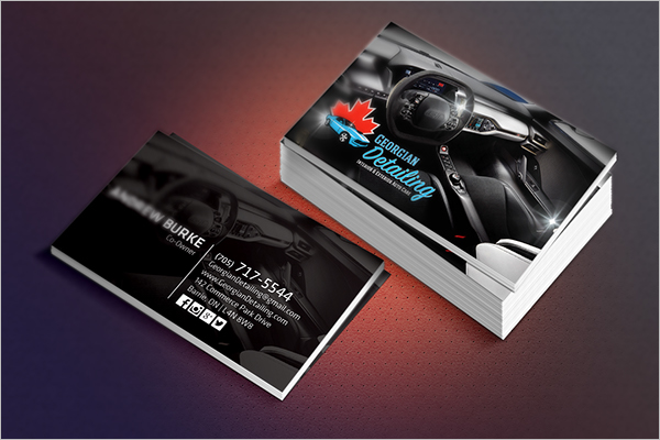 Automotive Business Card Templates Free PSD Design Samples - Mechanic business cards templates free