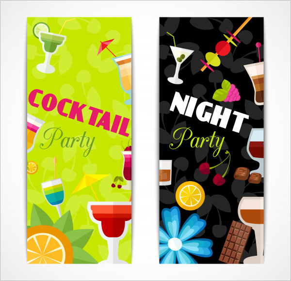 Free CocktailParty Menu Card Design