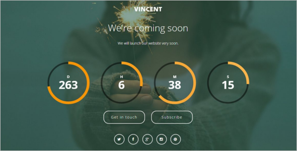 Free Coming Soon HTML5 Template
